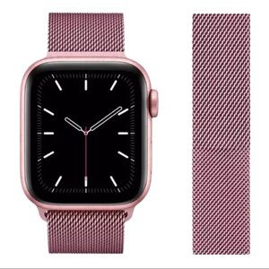 🎉Pink Milanese loop band for Apple iWatch